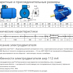 Описание электродвигателя АИР 112 М4