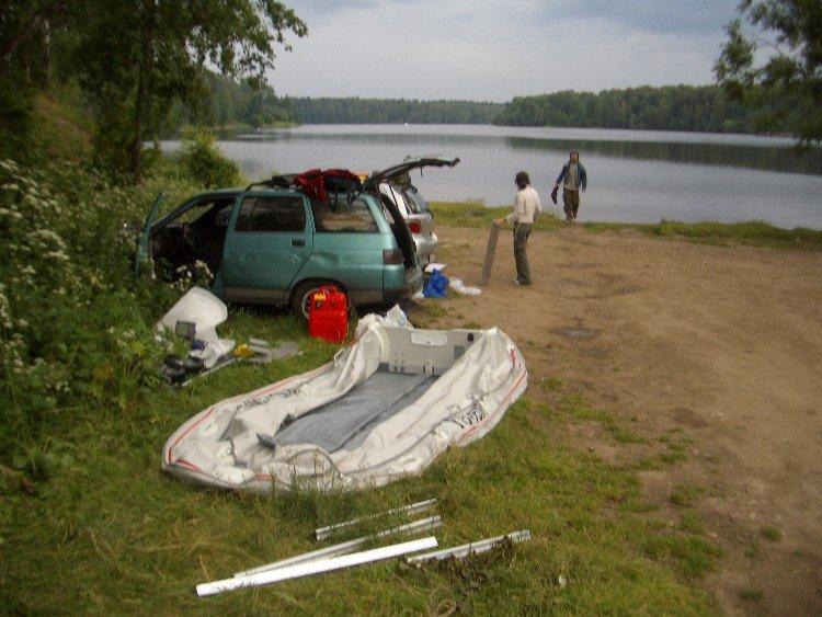 Сборка лодки — картинка к рассказу