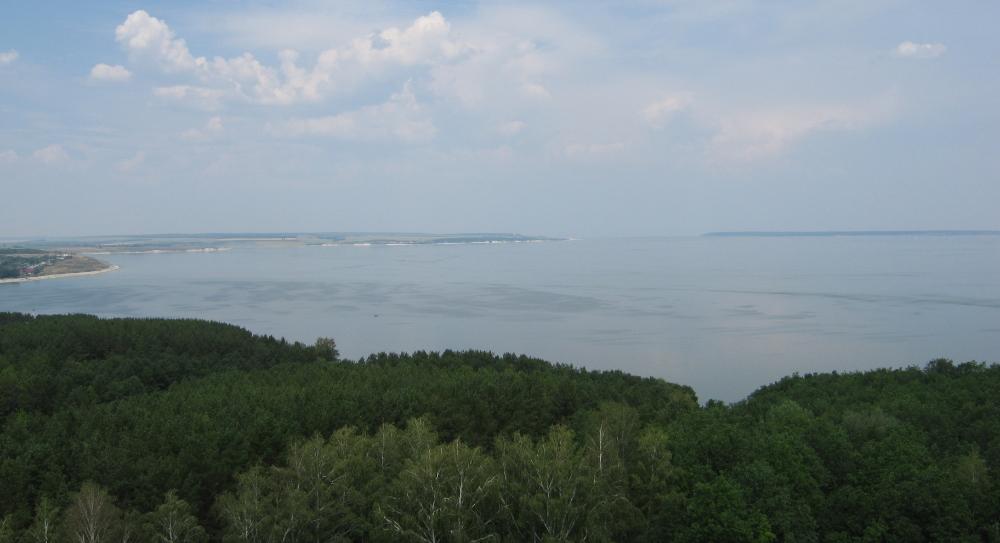 3 - Вид на жигулевское море сверху